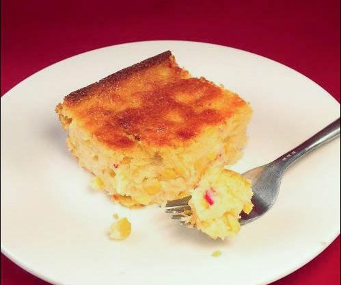 Sweet Mexican Cornbread Pudding recipe, Mexican Cornbread, homestead cookbook, homesteading