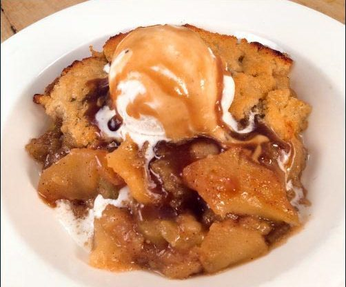 Caramel Apple Cobbler recipe