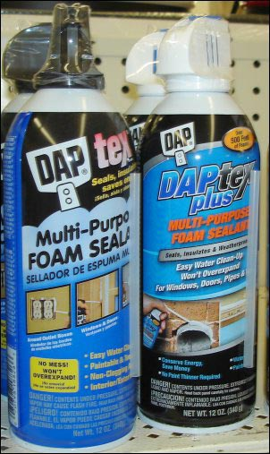 DAP expanding spray foam, Home Winterization Anyone Can Tackle
