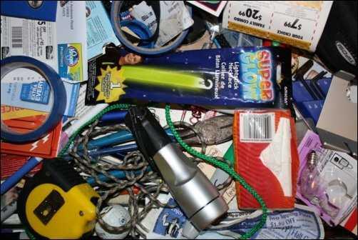 junk drawer de-clutter clutter