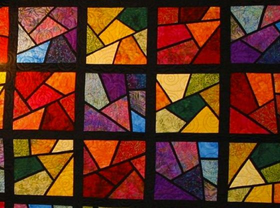stained glass quilt patterns