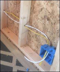 portable building cabin wiring