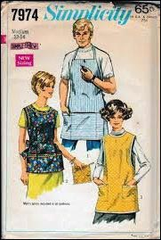 Apron pattern, aprons on a clothesline, History of Aprons, apron for women, aprons for men