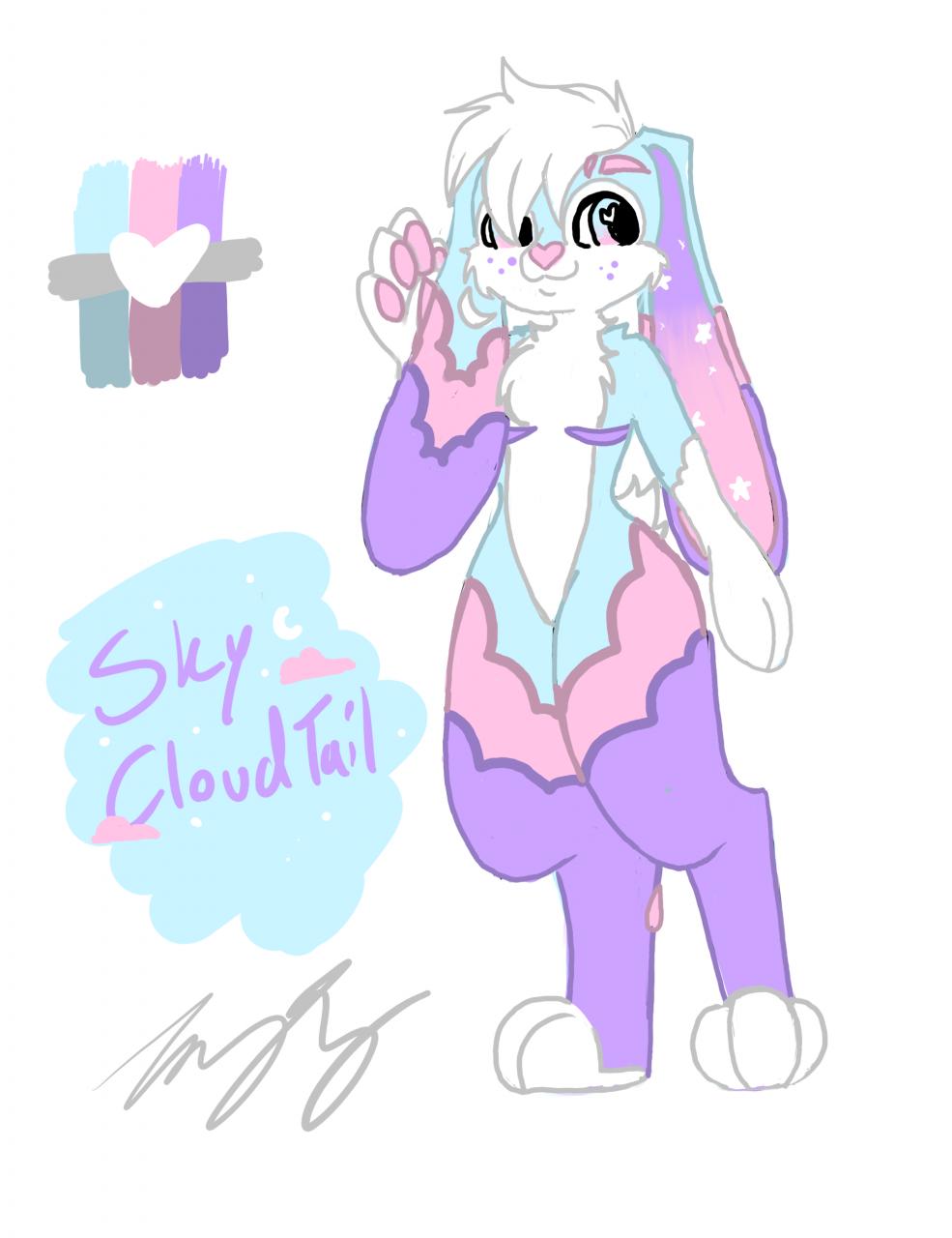 Sky CloudTail Full Body - My sweet Bunny boy