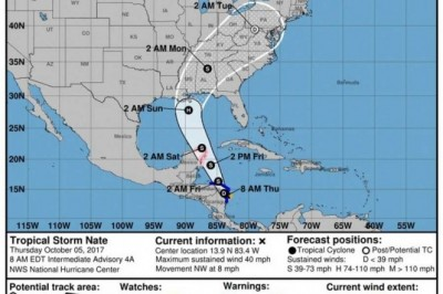 Q. Roo y Yucatán en vigilancia por la tormenta 'Nate'