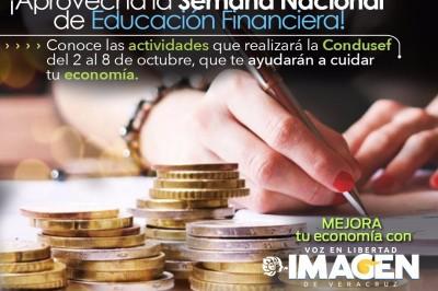 Semana Nacional de Educación Financiera  del 2 al 8 de octubre