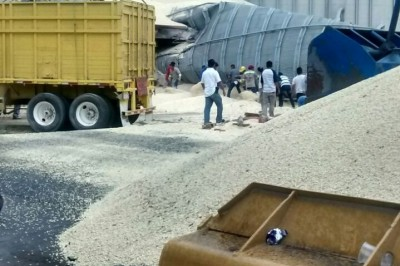 Cae silo en el Puerto de Veracruz