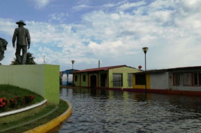 Tlacotalpan con daños severos por las lluvias