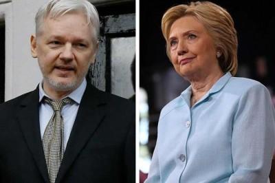 Clinton acusa a Assange de servir a Rusia