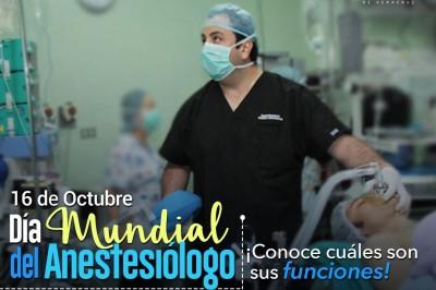 ¡Conoce las funciones del anestesiólogo!