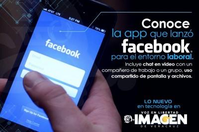 Conoce la app que lanzó Facebook para el entorno laboral