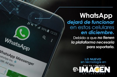 Whatsapp dejará de funcionar en estos celulares en diciembre