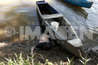 Encuentran cuerpo baleado en el río Bobos