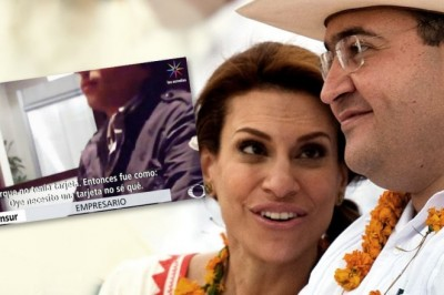Pide Javier Duarte que dejen a su esposa en paz