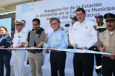 Inauguran Central de Bomberos de Boca del Río
