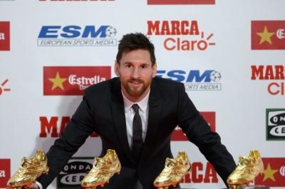 Messi continúa imparable, recibe su cuarta bota de Oro