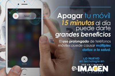 Apagar tu móvil 15 minutos al día puede darte grandes beneficios