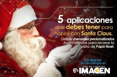 5 Aplicaciones que debes tener para hablar con Santa Claus