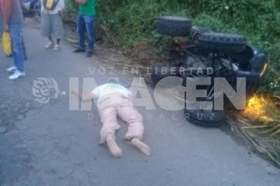 Muere tras ser atropellado sobre  Carretera federal 145, Tres Valles-Tierra Blanca