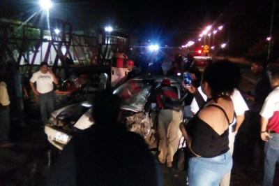 Un herido tras accidente en la carretera federal Carlos A. Carrillo – Cosamaloapan