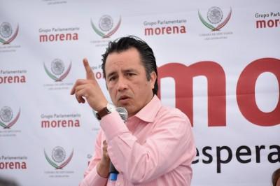 Se compromete Cuitláhuac a tranquilizar Veracruz