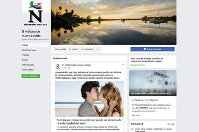 Hackean portal y página de FB de El mañana de Nuevo Laredo
