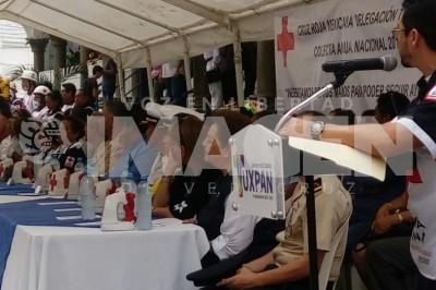 Este jueves 22 de febrero comenzó la colecta anual de la Cruz Roja Mexicana en Tuxpan