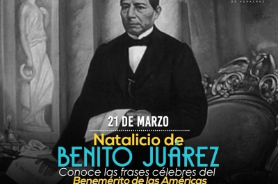 Descubre las frases célebres de Benito Juárez