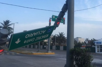 Norte deja afectaciones en la zona Veracruz-Boca del Río