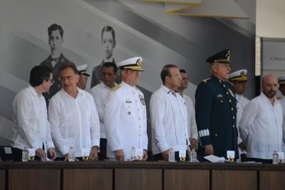 Conmemoran el 104 aniversario de la defensa de la ciudad de Veracruz