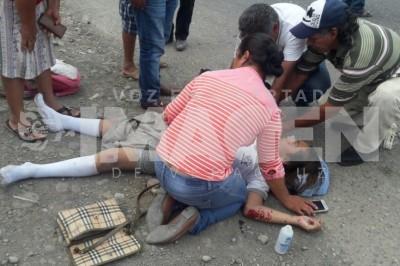 Una joven estudiante de secundaria es atropellada