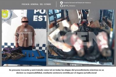 Sujeto detenido en Tantoyuca