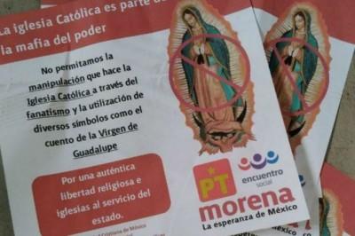 Falso repudio de Morena hacía la Virgen de Guadalupe