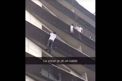 Inmigrante trepó cuatro pisos para rescatar a niño que colgaba de un balcón