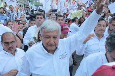Mitin del candidato Andrés Manuel López Obrador en Xalapa