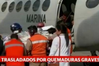 Trasladan a México a dos afectados con quemaduras tras erupción en Guatemala