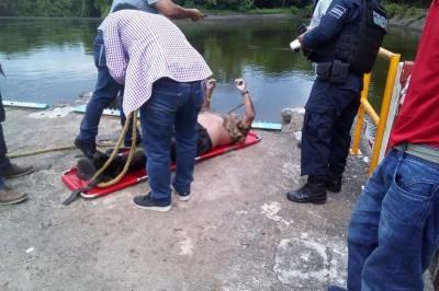 Un hombre fue encontrado ahogado en la represa de Chilapan en San Andrés Tuxtla