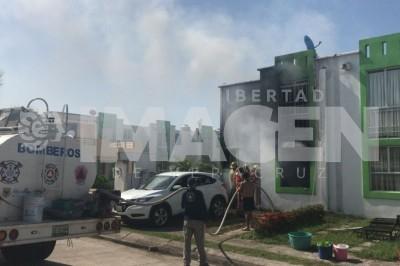 Sufre lesiones mujer en Medellin tras explotar un tanque de gas