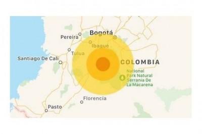 Se registra sismo de magnitud 5.1 en Colombia