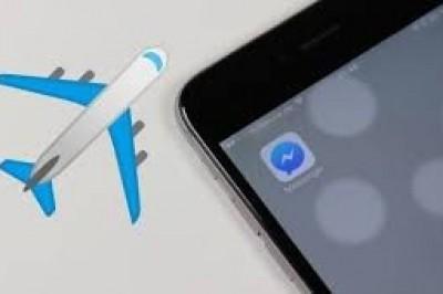 Facebook agrega reacción de avión