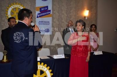 ADQUIEREN COMPROMISO: Realizan toma de protesta en Club Rotario Veracruz Sur