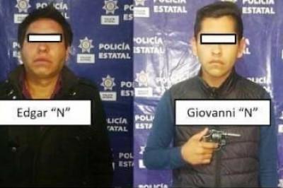 Un par de sujetos acusados de robo agravado  fueron capturados por elementos SSP de Perote