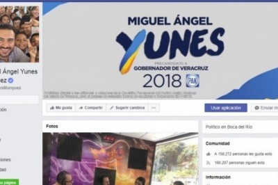 Yunes ha invertido en Facebook más de 11 millones de pesos en publicidad