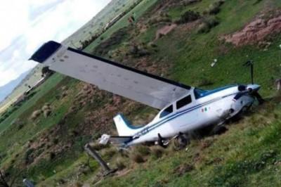 Cae avioneta en Zempoala