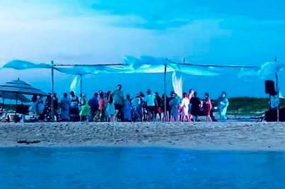 Hoteleros se muestran molestos tras fiesta en Isla Salmedina