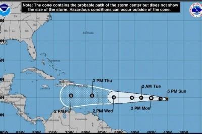 Tormenta tropical 'Isaac' se forma en el Atlántico