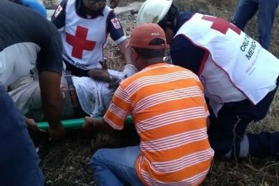 Grave empleado de Ferro sur, tras caer de puente en Papaloapan