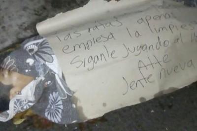 Encuentran el cadáver de un joven fue abandonado envuelto en una cobija con una narcoamenaza en Tezonapa