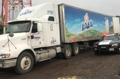 Inicia PGR carpeta de investigación por recuperación de toneladas de lacteo y dos vehículos