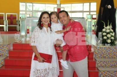 ANTE EL ALTAR: Mateo Hernández Reyes cumplió tres años de vida